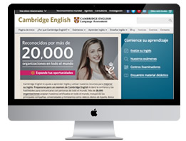 Página web de Cambridge English Language Assessment